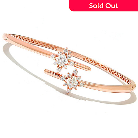 131-142 -  TYCOON 2.16 DEW Simulated Diamond Star Bypass Bangle Bracelet
