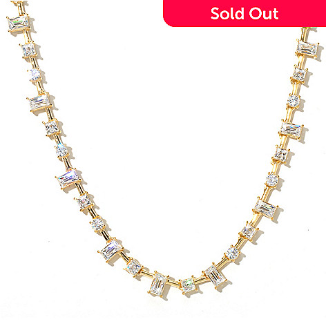 131-144 - TYCOON 18'' 12.16 DEW Multi Shape Simulated Diamond Necklace