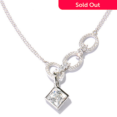 131-145 - TYCOON Platinum Embraced™ 18'' 4.04 DEW Simulated Diamond Link Necklace