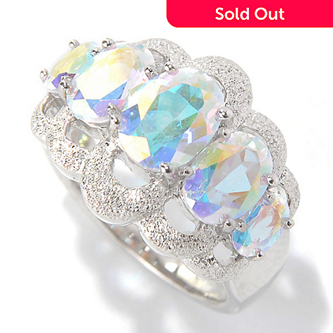 131-159 - NYC II™ 3.09ctw Oval Fancy Topaz Stardust Finished Five-Stone Ring