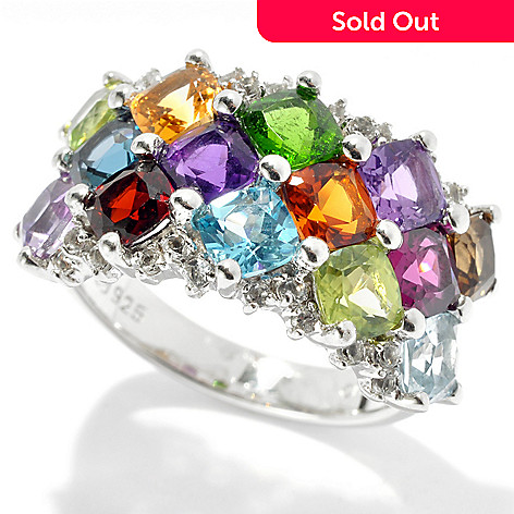 131-161 - NYC II™ 3.86ctw Cushion Cut Multi Gemstone Band Ring