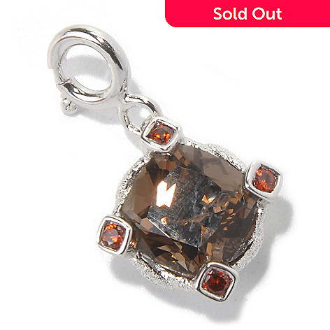 131-166 - NYC II™ 2.68ctw Zircon & Quartz Textured Charm