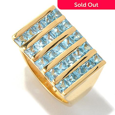131-171 - NYC II™ Men's 4.50ctw Swiss Blue Topaz Five-Column Ring