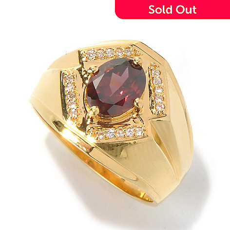 131-173 - NYC II™ Men's 2.27ctw Raspberry & White Zircon Polished Ring