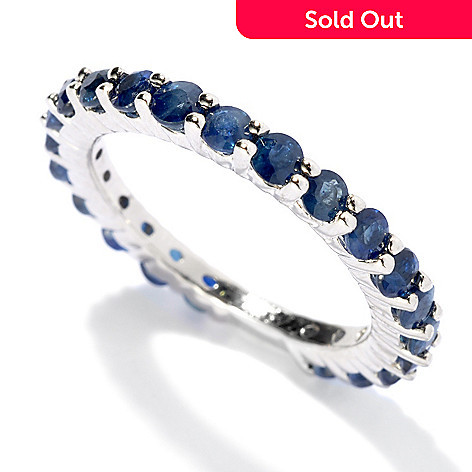 131-190 - Gem Treasures Sterling Silver 1.50ctw Fancy Sapphire Band Ring