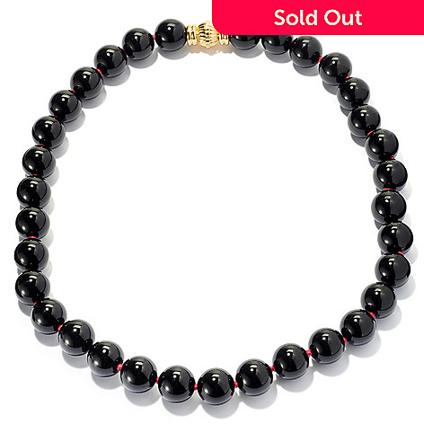 131-256 - 22'' 16mm Round Gemstone Bead Necklace w/ Magnetic Clasp