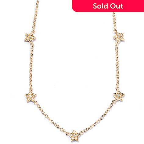 131-284 - Sonia Bitton 18'' Star Station Simulated Diamond Necklace