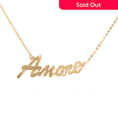 131-361 - Italian Designs with Stefano 14K Gold 18'' ''Amore'' Necklace