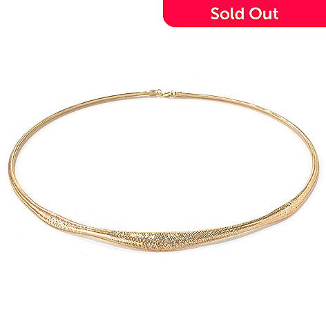 131-370 - Italian Designs with Stefano 14K Gold 18'' Stretch Mesh Omega Necklace, 5.27 grams