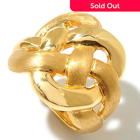 131-374 - Italian Designs with Stefano 14K ''Oro Vita'' Electroform Woven Ring