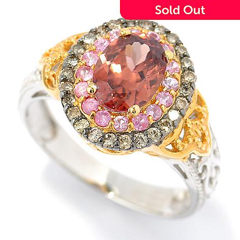131-478 - The Vault from Gems en Vogue 2.62ctw Cinnamon Zircon & Multi Gemstone Ring