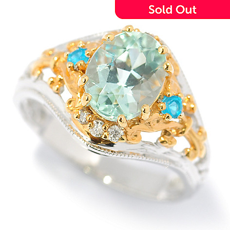131-488 - The Vault from Gems en Vogue 2.04ctw Amblygonite & Multi Gem Ring