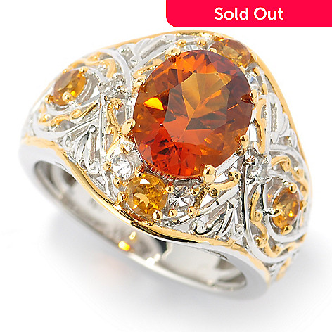 131-489 - The Vault from Gems en Vogue 2.00ctw Fire Citrine & Multi Gemstone Ring
