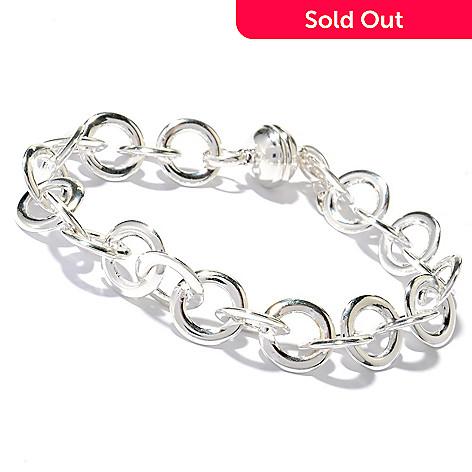 131-539 - SempreSilver® 7.75'' Rolo Link Bracelet w/ Magnetic Clasp, 16.8 grams