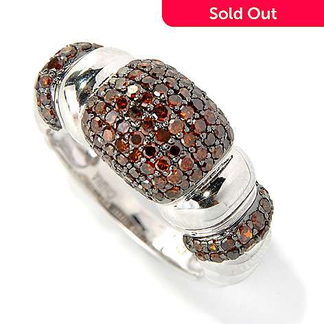 131-577 - Diamond Treasures® Sterling Silver 1.00ctw Round Diamond Pave Three-Station Ring