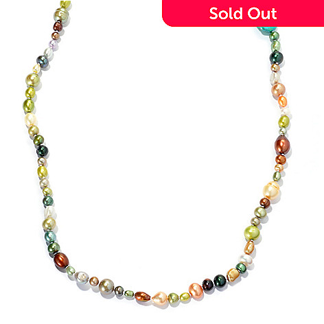 131-611 - 62'' Multi Shaped Freshwater Cultured Pearl Endless Necklace
