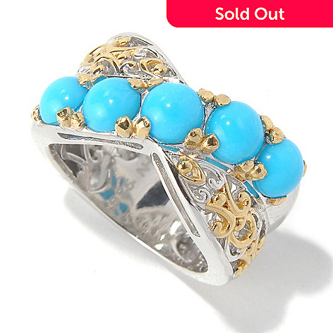 131-701 - Gems en Vogue Sleeping Beauty Turquoise Crossover Ring