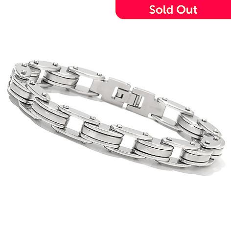 131-795 - Steel Impact™ Men's Stainless Steel Bicycle Chain Link Bracelet