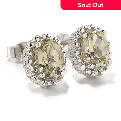 131-824 - Gem Insider® Sterling Silver 1.53ctw Zultanite Beaded Halo Stud Earrings