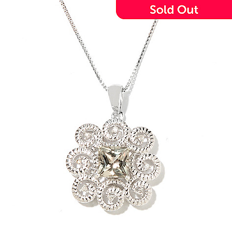 131-826 - Gem Insider® Sterling Silver 1.08ctw Zultanite & Diamond Framed Pendant w/ Chain
