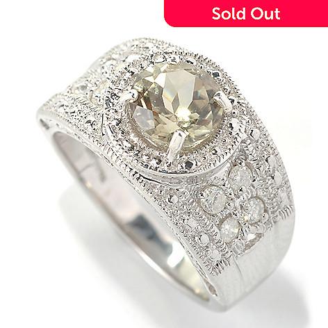 131-827 - Gem Insider® Sterling Silver 1.56ctw Zultanite & Diamond Beaded Halo Ring
