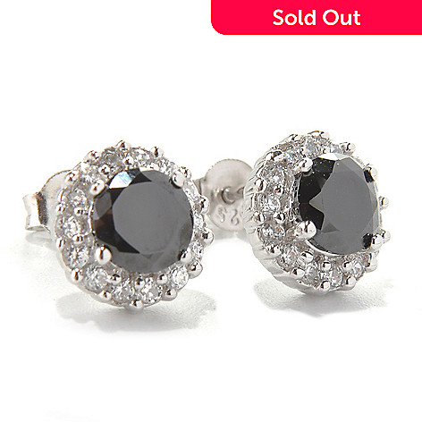 131-830 - Brilliante® Platinum Embraced™ 2.10 DEW Round Simulated Diamond Halo Stud Earrings