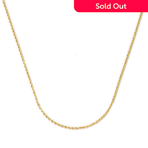 131-864 - Viale18K® Italian Gold 20'' Rope Chain Necklace