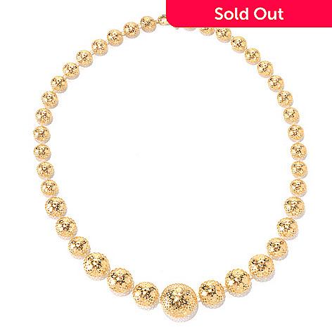 131-874 - Italian Designs with Stefano 14K Gold 18'' Ricami Dolce Vita Graduated Necklace, 12.92 grams