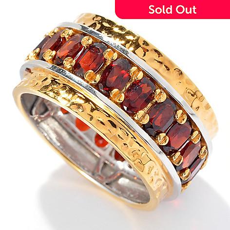 131-908 - Men's en Vogue 4.83ctw Garnet Martellato Eternity Band Ring