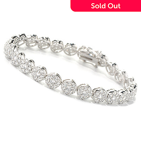 131-933 - Brilliante® Platinum Embraced™ Round Cut Simulated Diamond Line Bracelet