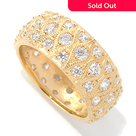 131-962 - Brilliante® Gold Embraced™ 1.44 DEW Round Cut Simulated Diamond Eternity Band Ring