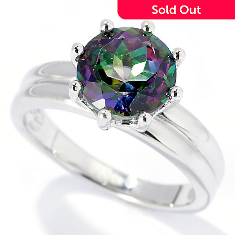 131-988 - Gem Treasures Sterling Silver 2.00ctw Topaz ''Kellie Anne'' Solitaire Ring
