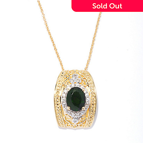 131-995 - NYC II™ 2.27ctw Chrome Diopside & White Zircon Pendant w/ Chain