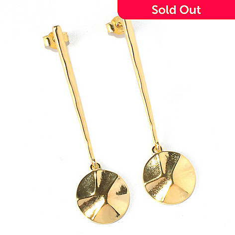 132-065 - Toscana Italiana 18K Gold Embraced™ 2.25'' Polished Elongated Drop Earrings