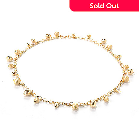 132-263 - Portofino 18K Gold Embraced™ Beaded Rolo Link Necklace