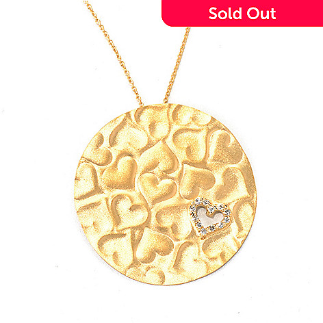 132-270 - MARIKA 14K Gold 18'' 0.12ctw Diamond ''Circle of Hearts'' Necklace w/ Extender
