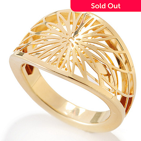 132-395 - Stefano Oro 14K Gold Openwork Floral Ring