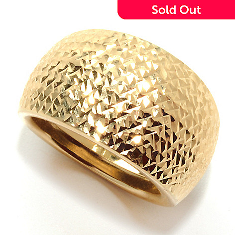 132-397 - Italian Designs with Stefano 14K Gold ''Scultura Toscana'' Diamond Cut Ring