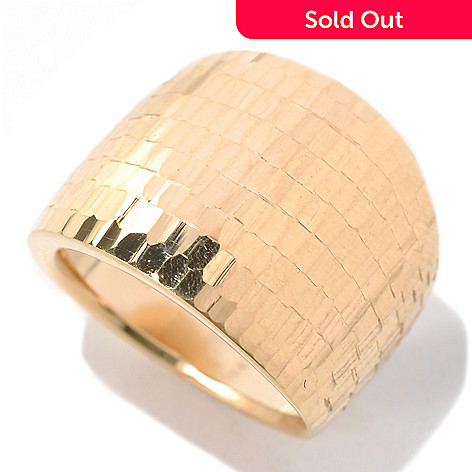 132-400 - Stefano Oro 14K Gold ''Granissima Luce'' Polished Ring