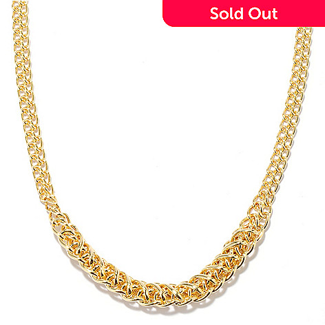 132-412 - Italian Designs with Stefano 14K Gold 18'' Graduated Infinity Rolo Necklace, 5.75 grams