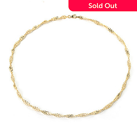 132-414 - Italian Designs with Stefano 14K Gold Textured Twist Necklace, 3.32 grams