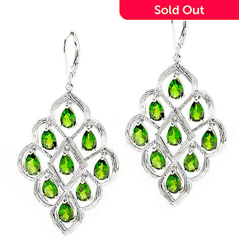 132-430 - NYC II™ 2'' 7.72ctw Chrome Diopside Marquise Shaped Dangle Earrings
