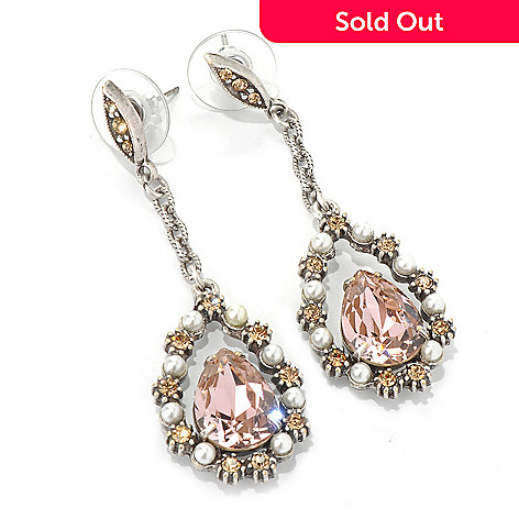 132-473 - Sweet Romance 2.25'' Elongated Pear ''Lorena'' Drop Earrings