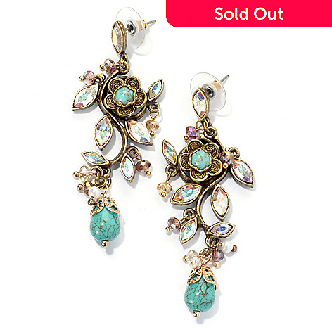 132-480 - Sweet Romance™ 2.5'' Filigree ''D'Vine'' Dangle Earrings