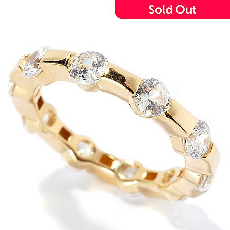 132-507 - Brilliante® 2.71 DEW Round Tension Set Simulated Diamond Eternity Band Ring