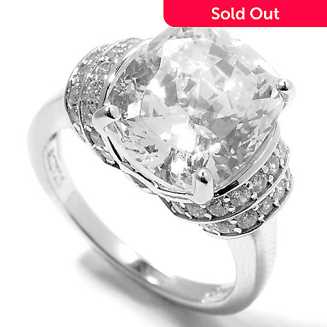 132-512 - Brilliante® Platinum Embraced™ 7.28 DEW Round & Cushion Simulated Diamond Ring