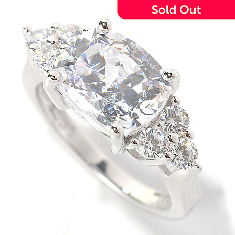 132-514 - Brilliante® Platinum Embraced™ 5.02 DEW 100-Facet Simulated Diamond East-West Ring
