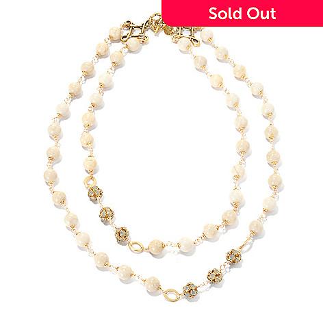 132-533 - mariechavez 17.5'' River Stone Double Strand Necklace Made w/ Swarovski® Elements