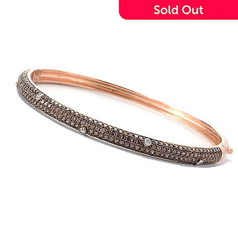 132-571 - Dare to Rare™ by Lucy Rose Gold Embraced™ Simulated Diamond Bangle Bracelet
