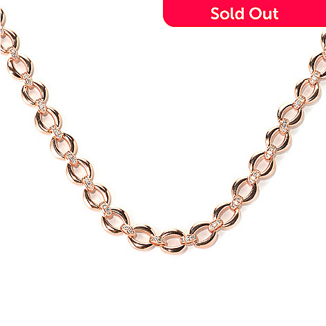 132-578 - Brilliante® 18'' 2.31 DEW Round Cut Simulated Diamond Fancy Chain Link Necklace